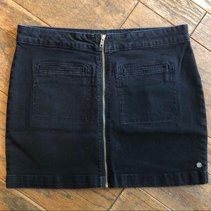 Roxy black denim mini skirt